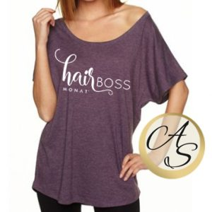 """hairBOSS"" off-shoulder, flowy"