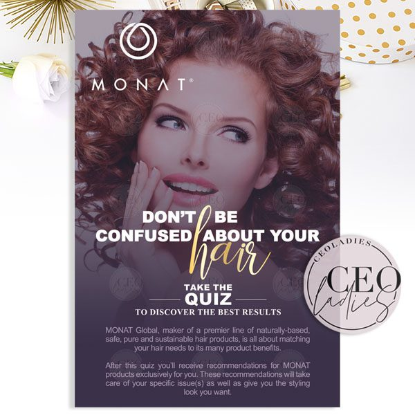 Monat Hair Quiz CEOladies Front