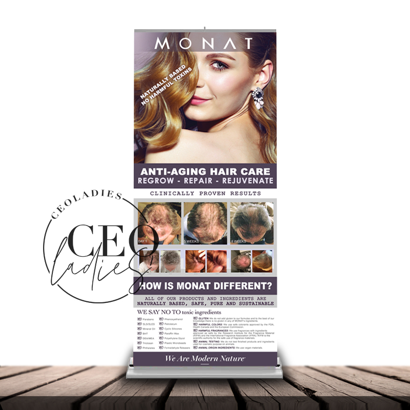 Retractable Banner Stand And Carrying Case Monat Ceoladies